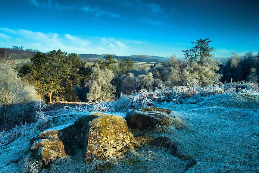 Winter's dawn at Cowden Hall, Neilston, East Renfrewshire