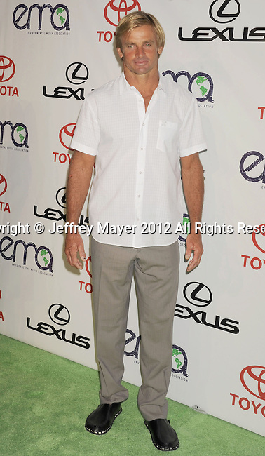BURBANK, CA - SEPTEMBER 29: Laird Hamilton arrives at the 2012 Environmental Media Awards at Warner Bros. Studios on September 29, 2012 in Burbank, California.