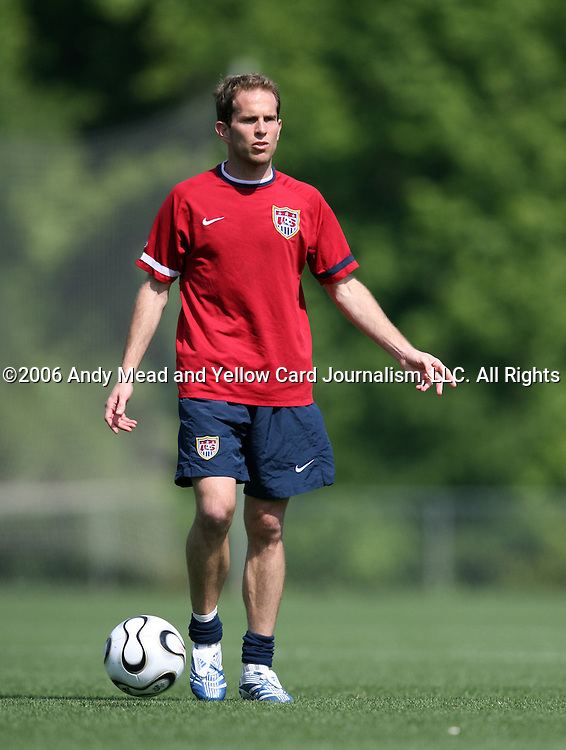 Eddie Lewis on Sunday, May 14th, 2006 at SAS Soccer Park in Cary, North Carolina. The United States Men's National Soccer Team held a training session as part of their preparations for the upcoming 2006 FIFA World Cup Finals being held in Germany.