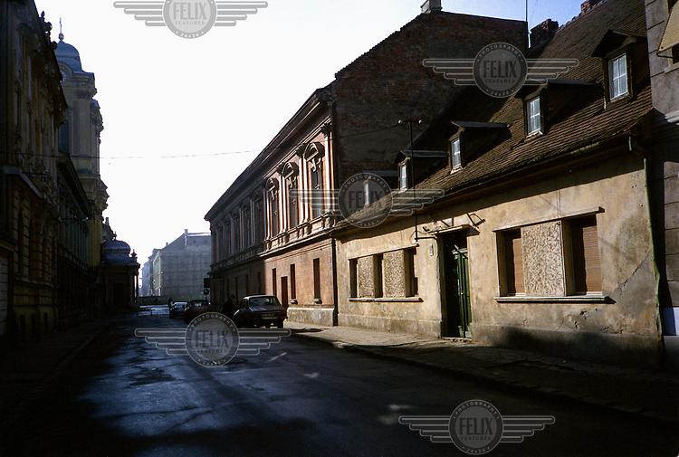 A street in Timisoara.