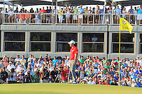 Rory McIlroy (NIR) on the 18th green during Sunday's Final Round of the 94th PGA Golf Championship at The Ocean Course, Kiawah Island, South Carolina, USA 11th August 2012 (Photo Eoin Clarke/www.golffile.ie)