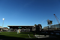 30th July 2020; Craven Cottage, London, England; English Championship Football Playoff Semi Final Second Leg, Fulham versus Cardiff City; Craven Cottage under construction for the new riverside stand