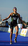 PUERTO VALLARTA, MEXICO - OCTOBER 23:  Pamella Nascimento of Brazilreacts to her bronze medal during the Women's Triathlon competition on Day Eight of the XVI Pan American Games on October 23, 2011 in Puerto Vallarta, Mexico.  (Photo by Donald Miralle for Mexsport) *** Local Caption ***
