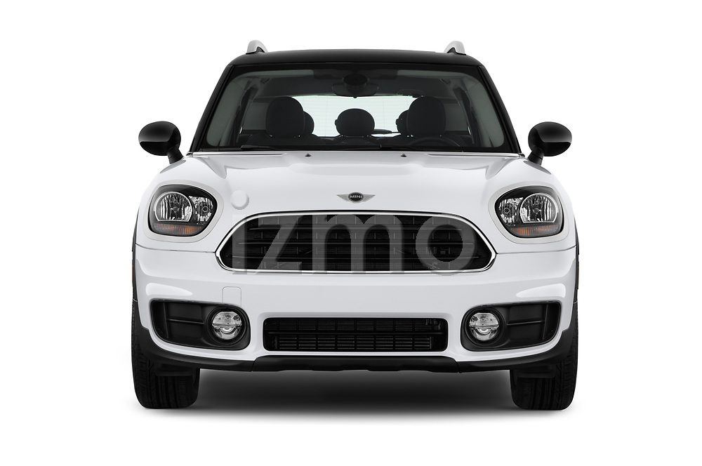 Car photography straight front view of a 2019 MINI Countryman 5-Door 5 Door Hatchback Front View