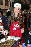 Los Angeles, CA - NOVEMBER 23: Ali Landry, At Los Angeles Mission Thanksgiving Meal For The Homeless At Los Angeles Mission, California on November 23, 2016. Credit: Faye Sadou/MediaPunch