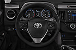 Car pictures of steering wheel view of a 2017 Toyota RAV4 LE 5 Door SUV
