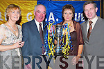 GLORY: At the Cullen GAA Social in Ballygarry House, Tralee, on Saturday evening were Susan OConnor, John Ring (Chairman), Josie Collins (Secretary) and Der OConnor (Treasurer), all from Cullen..
