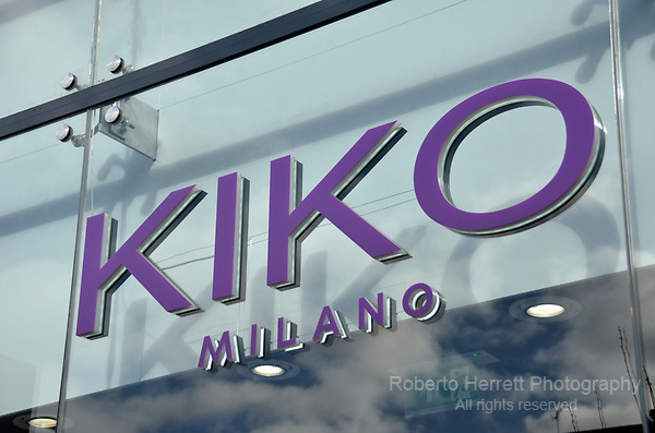 Kiko Milano sign logo.