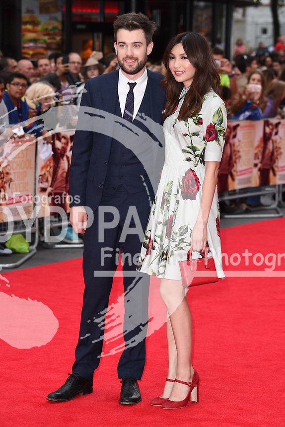 Jack Whitehall and Gemma Chan<br /> attends the premiere of &quot;The Bad Education Movie&quot; at the Vue West End, Leicester Square,  London<br /> <br /> &copy;Ash Knotek  D3006  20/08/2015