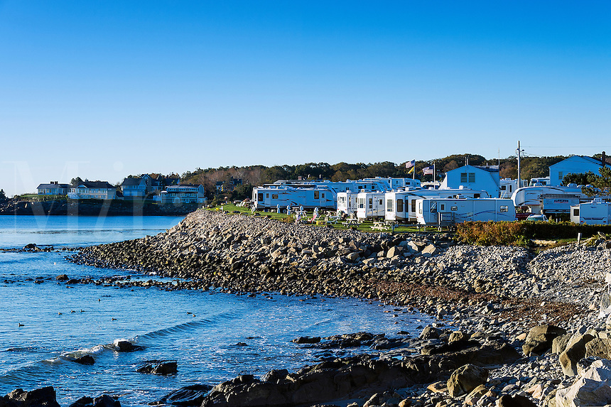 Oceanfront RV park , York, Maine, USA