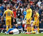 14.09.2019 Rangers v Livingston: Lyndon Dykes sent off