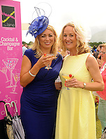 16-07-2015: Sandra Fitzmaurice and Orla Healy, Killarney, at the Ross Hotel Lane Bar Cocktail and Champagne Bar  at Killarney Races ladies day on Thursday.  Picture: Eamonn Keogh (macmonagle.com)   NO REPRO FREE PR PHOTO