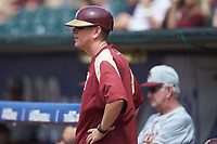 Florida State Seminoles assistant coach Mike Martin Jr. during the game against the Louisville Cardinals in Game Eleven of the 2017 ACC Baseball Championship at Louisville Slugger Field on May 26, 2017 in Louisville, Kentucky. The Seminoles defeated the Cardinals 6-2. (Brian Westerholt/Four Seam Images)