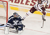Morgan Clark (StFX - 33), Patrick Brown (BC - 23) - The Boston College Eagles defeated the visiting St. Francis Xavier University X-Men 8-2 in an exhibition game on Sunday, October 6, 2013, at Kelley Rink in Conte Forum in Chestnut Hill, Massachusetts.