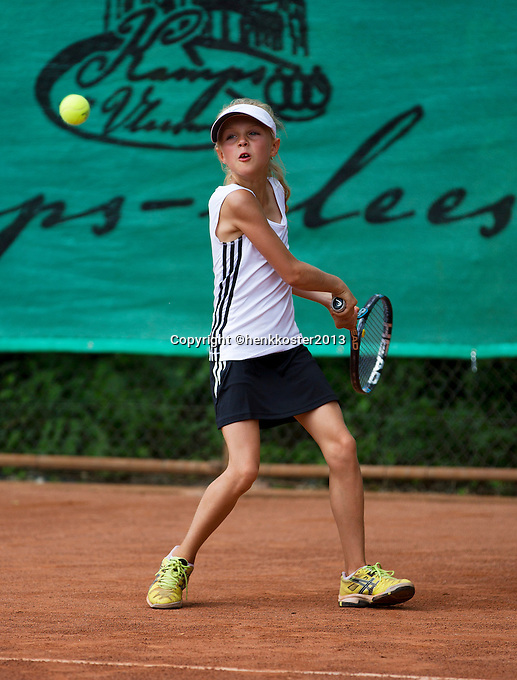 05-08-13, Netherlands, Dordrecht,  TV Desh, Tennis, NJK, National Junior Tennis Championships,  Joelle Steur (NED)<br />