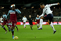 29th January 2020; London Stadium, London, England; English Premier League Football, West Ham United versus Liverpool; Roberto Firmino of Liverpool cross is blocked by Angelo Ogbonna of West Ham United