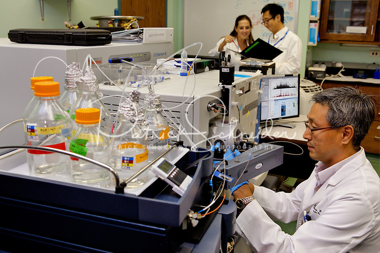 Photography inside the Cannon Research Center Laboratories at Carolinas Medical Center, in Charlotte, North Craolina.