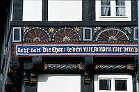 Fachwerkhaus in Goslar, Deutschland, Unesco-Weltkulturerbe