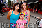 Bernie, Rachel and Kelly Hayes (Tralee) enjoying the music in The Mall, Tralee on Saturday.