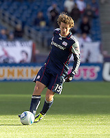 New England Revolution forward Zack Schilawski (15). In a Major League Soccer (MLS) match, the New England Revolution defeated DC United, 2-1, at Gillette Stadium on March 26, 2011.