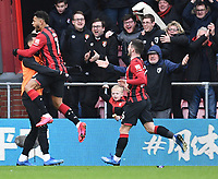 29th February 2020; Vitality Stadium, Bournemouth, Dorset, England; English Premier League Football, Bournemouth Athletic versus Chelsea; Joshua King of Bournemouth celebrates scoring in 57th minute making it 2-1
