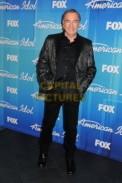Neil Diamond.American Idol Season 11 Finale - Press Room held at Nokia Theatre LA Live, Los Angeles, California, USA..May 23rd, 2012.full length suit black  .CAP/ADM/BP.©Byron Purvis/AdMedia/Capital Pictures.