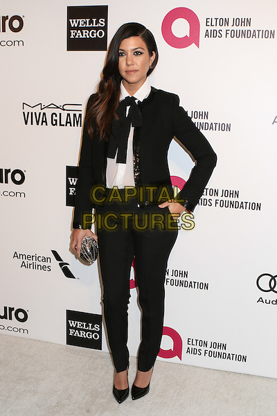 WEST HOLLYWOOD, CA - MARCH 2: Kourtney Kardashian attending the 22nd Annual Elton John AIDS Foundation Academy Awards Viewing/After Party in West Hollywood, California on March 2nd, 2014. <br /> CAP/MPI/COR99<br /> &copy;COR99/MediaPunch/Capital Pictures
