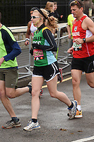 Natalie Dormer<br /> at the start of the 2016 London Marathon, Blackheath, Greenwich London<br /> <br /> <br /> &copy;Ash Knotek  D3108 24/04/2016