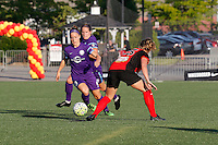 Rochester, NY - Saturday June 11, 2016: Orlando Pride forward Josee Belanger (9) during a regular season National Women's Soccer League (NWSL) match between the Western New York Flash and the Orlando Pride at Rochester Rhinos Stadium.