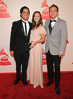 LAS VEGAS, NV - November 14: Carlos Lopez Estrada, Alissa Torvinen, and Christian Heuer atted the Latin Grammys Person of the Year red carpet arrivals at the MGM Grand on November 14, 2012 in Las Vegas, Nevada. Photo By Kabik/ Starlitepics/MediaPunch Inc. /NortePhoto