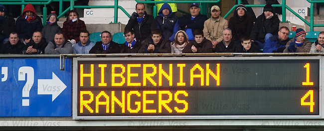 Rangers cruice to a 4-1 victory over Hibs at Easter Road