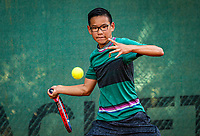 Hilversum, Netherlands, Juli 29, 2019, Tulip Tennis center, National Junior Tennis Championships 12 and 14 years, NJK, Jayden Tjong (NED)<br /> Photo: Tennisimages/Henk Koster