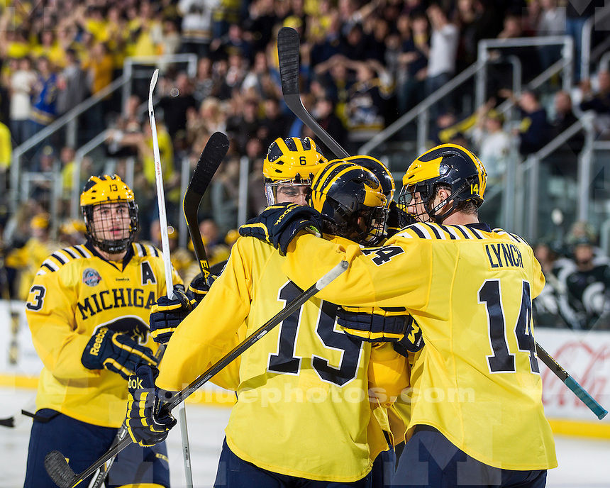 The University of Michigan ice hockey team beat Michigan State, 5-1, at Yost Ice Arena in Ann Arbor, Mich., on November 9, 2012.