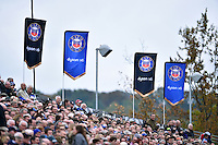 A general view of the Dyson Stand during the match. Aviva Premiership match, between Bath Rugby and Exeter Chiefs on October 17, 2015 at the Recreation Ground in Bath, England. Photo by: Patrick Khachfe / Onside Images