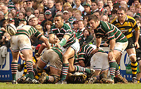 Leicester, ENGLAND, Tigers, Leon Lloyd acting as scrum half, Guinness Premiership Rugby,  Leicester Tigers vs London Wasps © Peter Spurrier/Intersport-images.com.