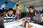 Junior Art Hub in the Spectator Village during the 58th UBS Hong Kong Golf Open as part of the European Tour on 08 December 2016, at the Hong Kong Golf Club, Fanling, Hong Kong, China. Photo by Vivek Prakash / Power Sport Images