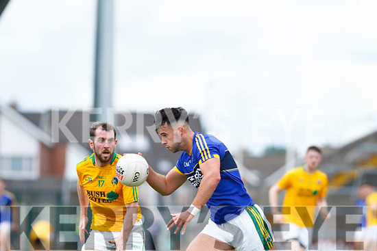 Jeff O'Donoghue of Kerry in action against Leitrim's James Glancy. All Ireland Junior Championship Semi-Final, Kerry V Leitrim. 22/07/2017. Gaelic Grounds, Limerick, Co Limerick.