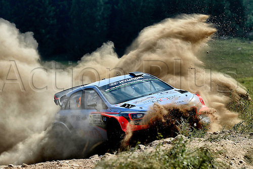 03.07.2016. Mikolajki, Poland. WRC Rally of Poland, stages 18-21 and Podium.  Thierry Neuville (BEL) and Nicolas Gilsoul (BEL)- Hyundai I20 WRC
