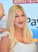 "Tori Spelling at the world premiere for ""Hotel Transylvania 3: Summer Vacation"" at the Regency Village Theatre, Los Angeles, USA 30 June 2018<br /> Picture: Paul Smith/Featureflash/SilverHub 0208 004 5359 sales@silverhubmedia.com"