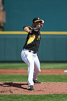 Pittsburgh Pirates pitcher Charlie Leesman (82) during the Black & Gold intrasquad game on March 2, 2015 at McKechnie Field in Bradenton, Florida.  (Mike Janes/Four Seam Images)