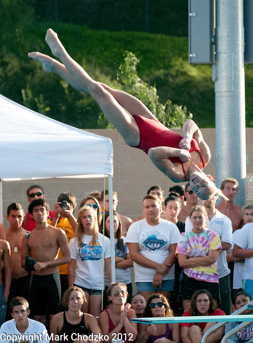 Diver competes in the CIF Division 3 & 4 Diving Championships at Riverside City College.