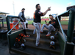 Images from a spring training game between the SF Giants and the KC Royals in Surprise, Ariz., on Tuesday, March 20, 2018. <br /> Photo by Cathleen Allison/Nevada Momentum
