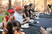 Tom Polansky, Director of Facilities<br /> Incoming first-years participating in MSI have dinner with Oxy faculty and staff in the ICC backyard, July 31, 2018.<br /> The Multicultural Summer Institute (MSI) is a four-week academic/residential program for approximately 50 incoming first-year students who represent a variety of ethnic, regional and cultural backgrounds. Through MSI, Occidental College introduces its student body to the social, cultural and intellectual resources of Southern California, and familiarizes students with the Oxy community and surrounding Los Angeles area.<br /> (Photo by Marc Campos, Occidental College Photographer)