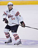 Halifax Mooseheads Graham Bona in QMJHL (LHJMQ) action at Le Colise Pepsi in Quebec City against the Quebec Remparts. The Remparts won 9-2