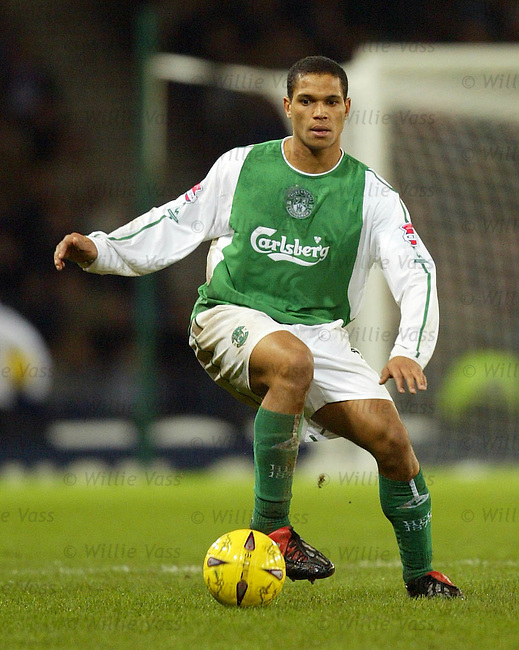 Mathias Doumbe, Hibs.Stock season 2003-04.pic willie vass