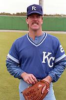 Kansas City Royals Steve Farr during spring training circa 1989 at Baseball City Stadium in Davenport, Florida.  (MJA/Four Seam Images)