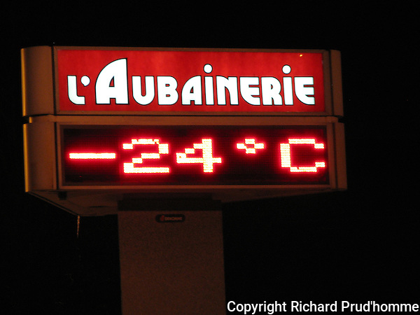 -24C on a cold winter night