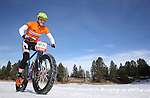 DEADWOOD, SD - JANUARY 23, 2016 -- Sam Voegeli #133 races in the men's open fat-tire bike class during the 2016 Snow Jam Points Series at Tomahawk Country Club south of Deadwood, S.D. Saturday. (Photo by Richard Carlson/dakotapress.org)