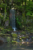 Midori Waterfall in Kenroken Garden is beautifully designed to look like a natural waterfall.