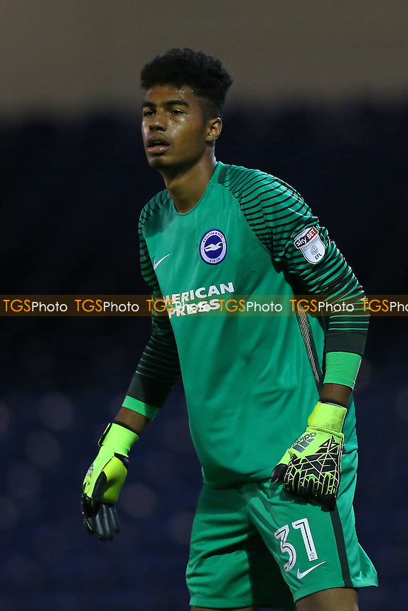 Robert Sanchez of Brighton during Southend United vs Brighton & Hove Albion Under-23, Checkatrade Trophy Football at Roots Hall on 30th August 2016
